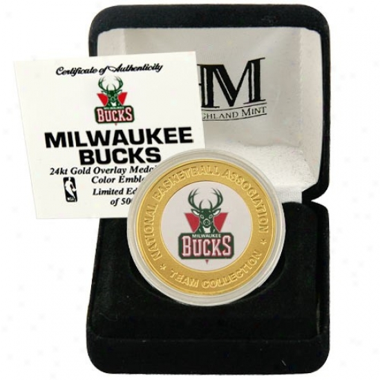 Milwaukee Bucks 24kt Gold Team Mint Coin