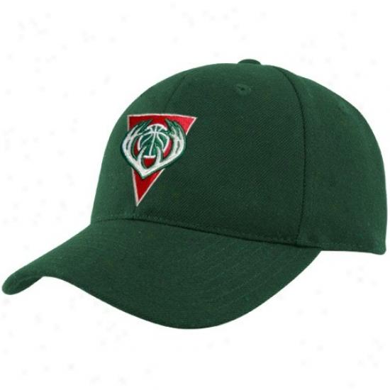 Milwaukee Bucks Hats : Adidas Milwaukee Bucks The Pivot Logo Flex Fit Hats