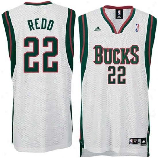 Milwaukee Bucks Jerseys : Adidas Milwaukee Bucks #22 Michael Redd White Home Swingman Jerseys