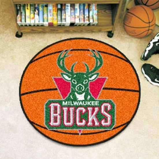 Milwaukee Bucks Orange Round Basketball Mat