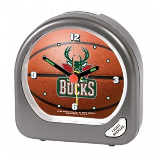 Milwaukee Bucks Plastic Alarm Clock