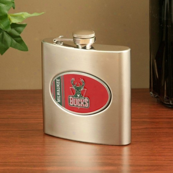 Milwaukee Bucks Stainless Steel Fllask