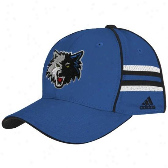 Minnesota Timberwolf Cap : Asidas Minnesota Timberwolf Youth Royal Blue Pro Shape Flsx Fit Cap