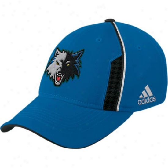 Minnesota Timberwolf Hat : Adidas Minnesota Timberwolf Royal Blue Official Team Flex Fit Hat