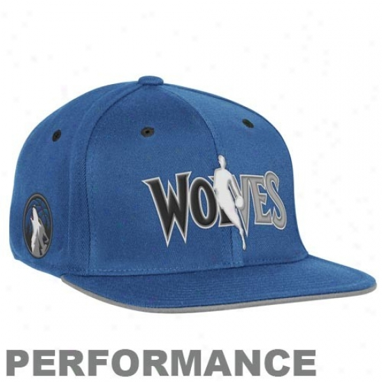 Minnesota Timberwolf Merchandise: Adidas Minnesota Timberwollf Royal Blue Official Draft Day Fitted Hat