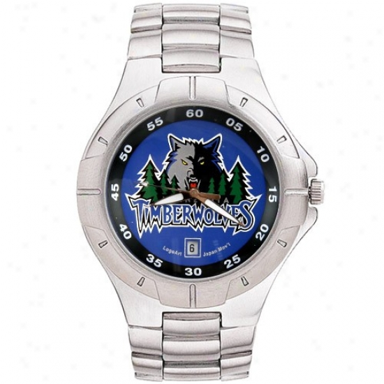Minnesota Timberwolf Watches : Minnesota Timbetwolf Men's Pro Ii Watches W/ Stainless Steel Band