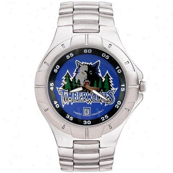Minnesota Timberwolf Watches : Minnesota Timbetwolf Men's Pro Ii Watches W/ Stainless Steel Band