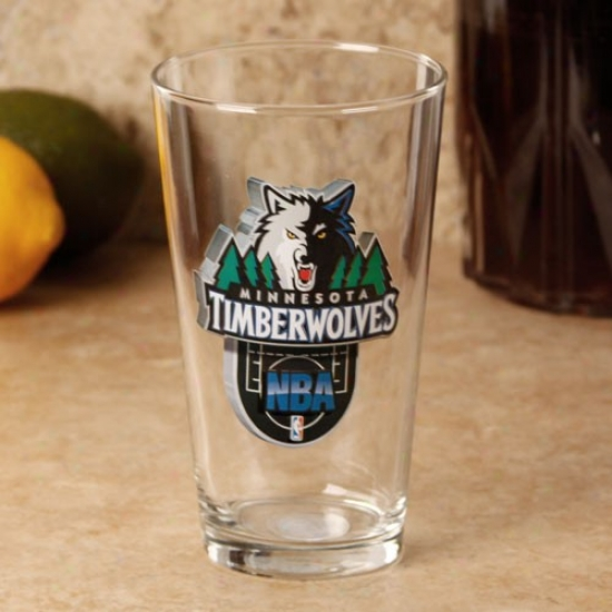 Minnesota Timberwolves 17 Oz. Enhanced Hi-def Mixing Glass