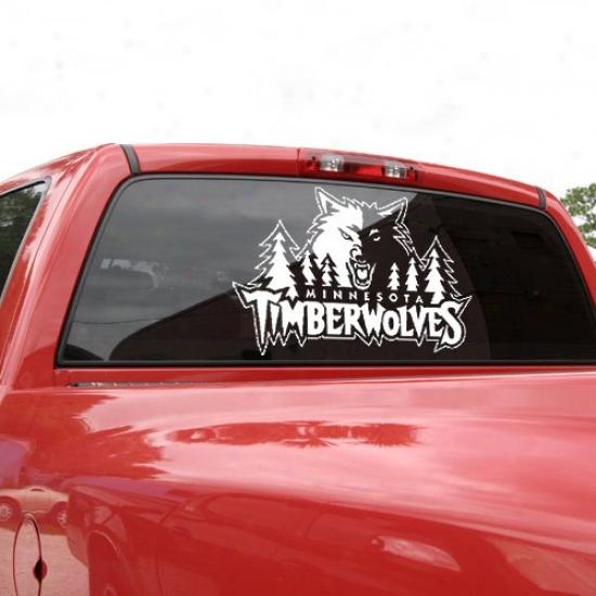 Minnesota Timberwp1ves 18x18 White Logo Decao