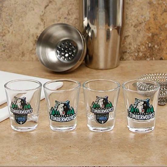 Minnesota Timberwolves 4-pack Enhaanced High Definition Design Shot Glass Regular