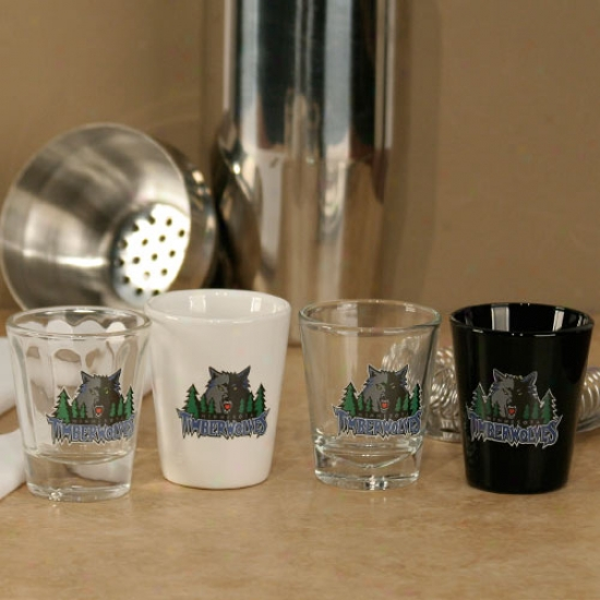 Minnesota Timberwolves 4-pack Shot Glass Set