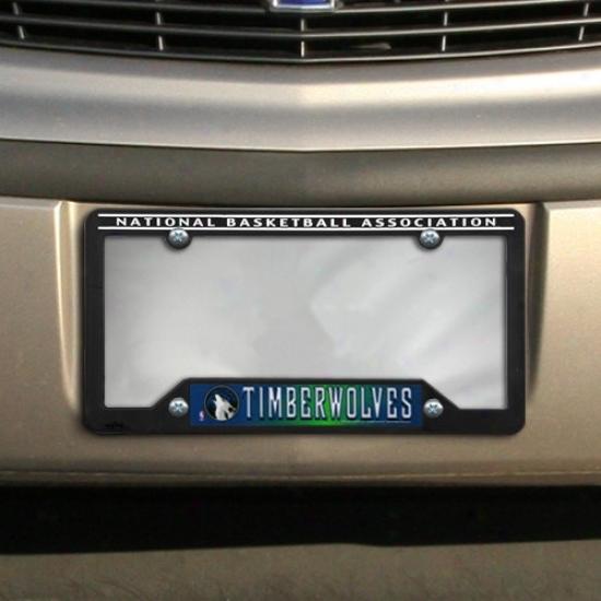 Minnesota Timberwolves Black Plastic License Plate Frame