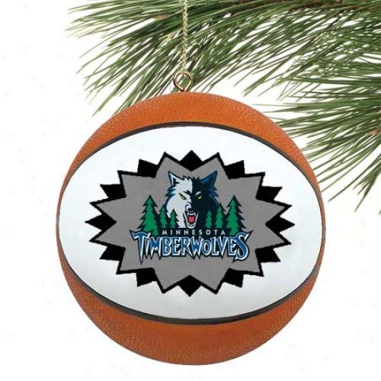 Minnesota Timberwolves Mini-replica Basketball Ornament