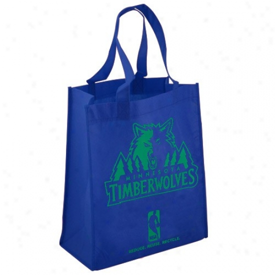 Minnesota Timberwolves Navy Blue Reusable Tote Bag