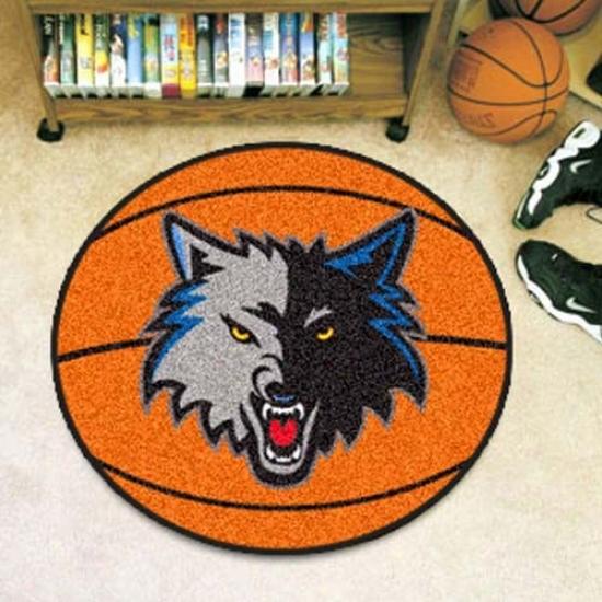Minnesota Timberwolves Orange Round Basketball Mat