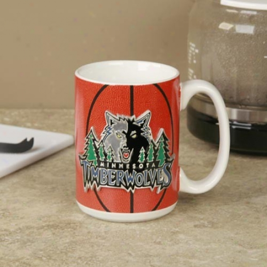 Minnesota Timberwolves Pewter Logo Basketbali Coffee Mug