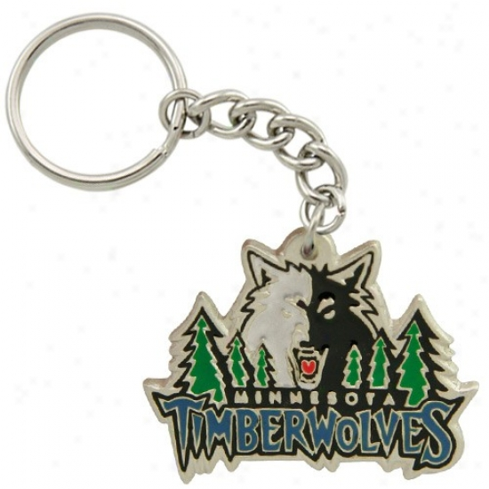 Minnesota Timberwolves Pewter Primary Logo Keychain