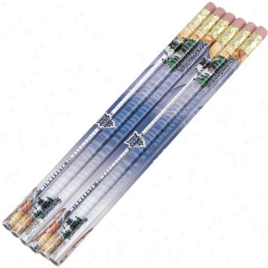 Minnesota Timberwolves Six Pack Pencils
