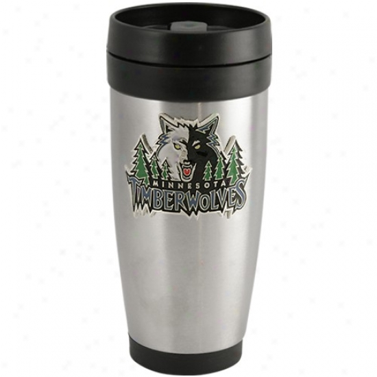 Minnesota Timbeewolves Stainless Steel Team Logo Thermo Travel Tumbler
