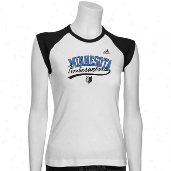 Minnesota Timberwolves T-shirt : Adidas Minnesota Timberwolves Ladies White Regal T-shirt