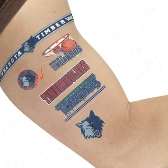 Minnesota Timberwolegs Temporary Tattoos
