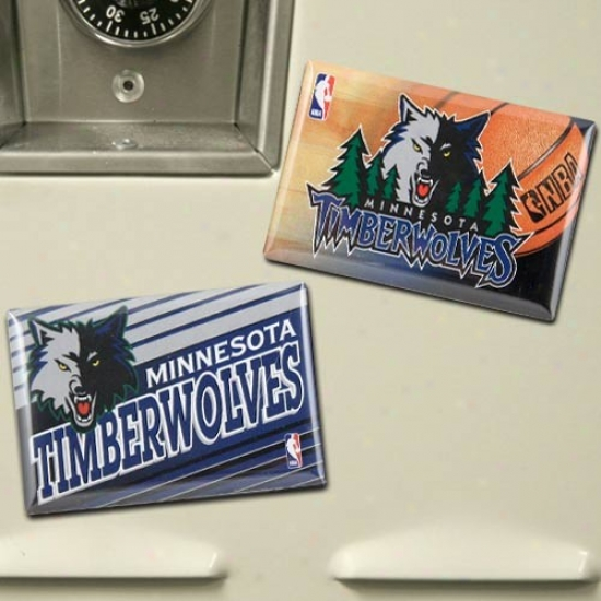 Minnesota Timberwolves Two Pack Magnet Set