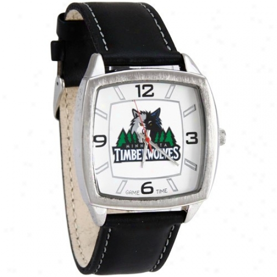Minnwsota Tomberwolves Watches : Minnesota Timberwolves Retro Watches W/ Leather Band