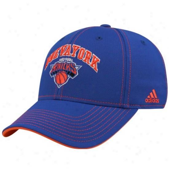 N Y Knick Hats : Adidas N Y Knick Royal Blue Latin Night Hats