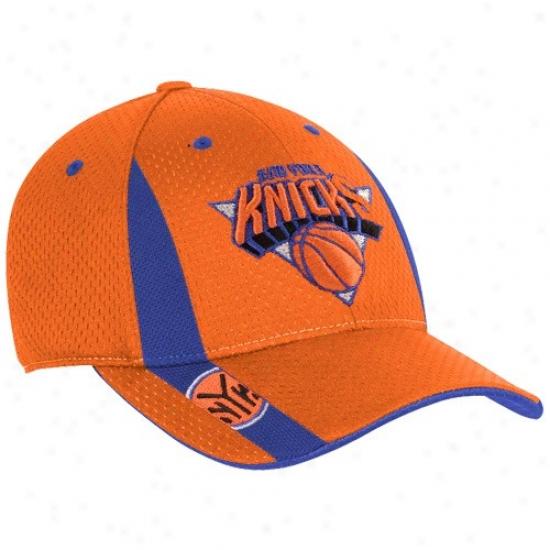 N Y Knicks Hats : Adidas N Y Knicks Youth Orange Swingman Flex Fit Hats