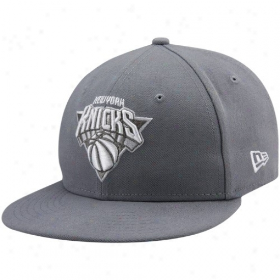 N Y Knicks Commodities: New Era N Y Knicks Gray League 59fifty Fitted Hat