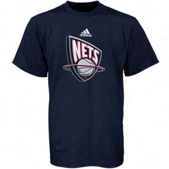Nets Tee : Adidas Nets Youth Navy Blu Primary Logo Tee