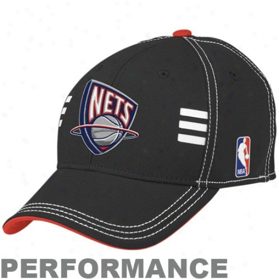 New Jersey Net Caps : Adidas New Jersey Net Black Functionary Draft Day Performance Stretch Qualified Caps