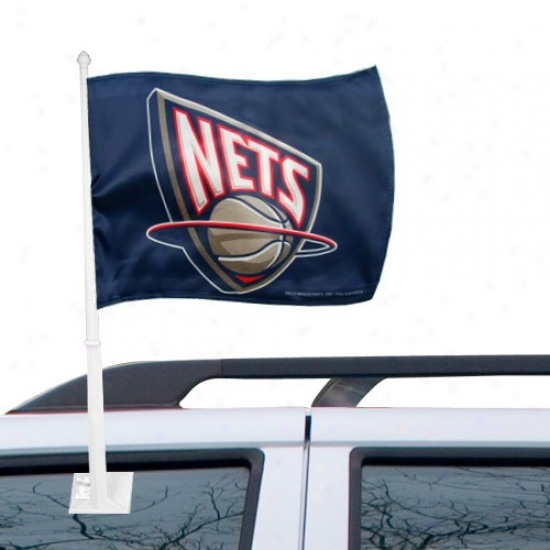 New Jersey Net Flagq : New Jersey Net Navy Blue Car Flags