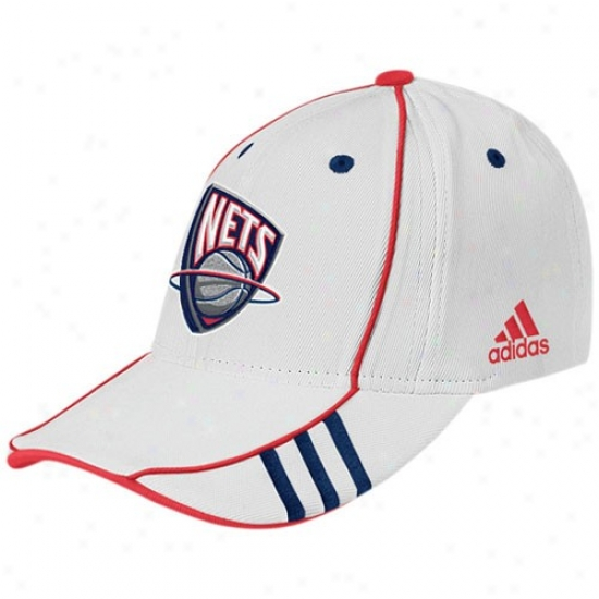 New Jersey Net Merchandise: Adidas New Jersey Clear White Nba 07 Draf Lifetime Cap