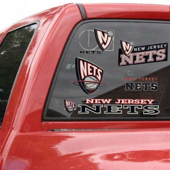 New Jersey Nets 11'' X 17'' Window Clings Sheet