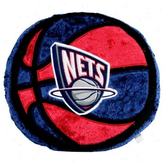 New Jersey Nets 14-inch Team Logo Plush Pillow