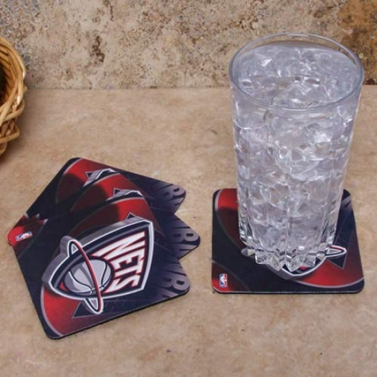New Jersey Nets 4-pack Sublimated Logo Neoprene Coaster Set