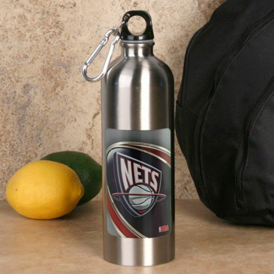 New Jersey Nets 750ml Stainless Knife Water Bottle W/ Carabiner Clip