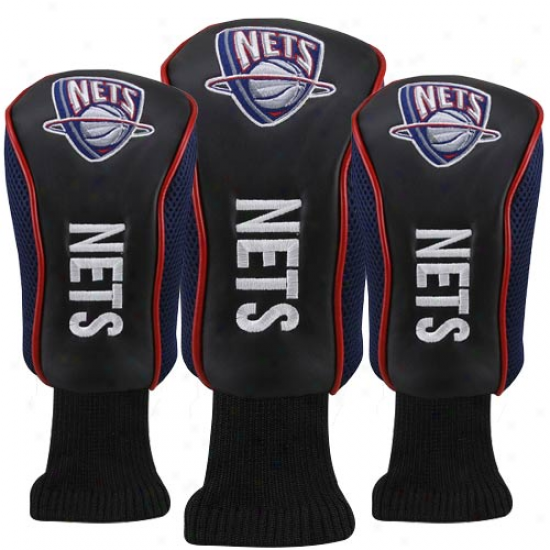 New Jersry Nets Black-navy Blue 3-pack Golf Club Headcovers