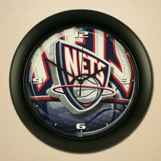 Neww Jersey Nets High Definition Wall Clock