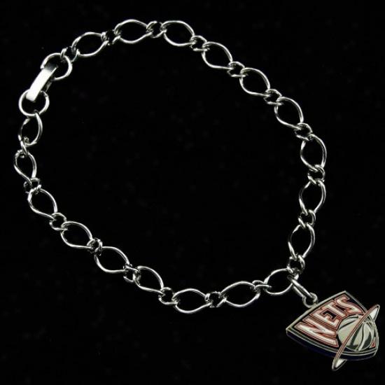 New Jersey Nets Ladies Silver-tone Charm Bracelet