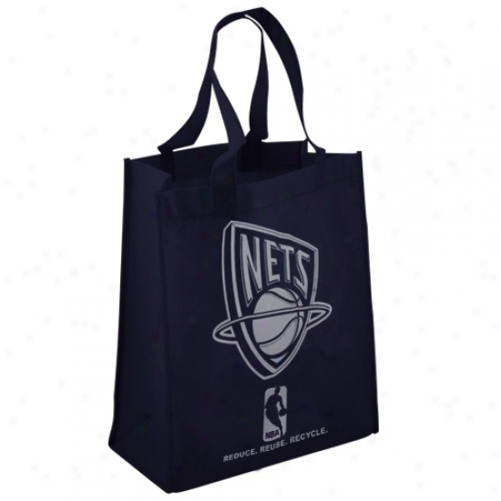 New Jersey Nets Navy Blue Reusable Tote Bag