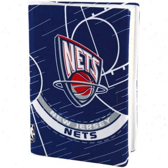 New Jersey Nets Navy Blue Stretchable Book Cover