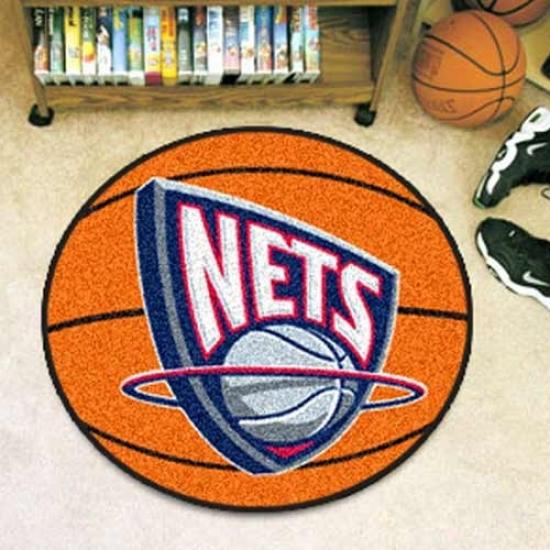 Recent Jersey Nets Orange Round Basketball Mat