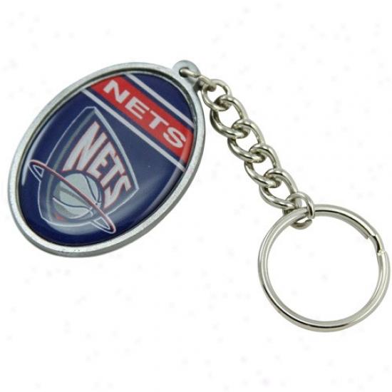 New Jersey Nets Oval Keychain