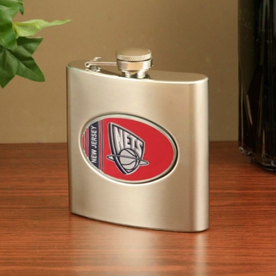 New Jersey Nets Spotless Steel Flask