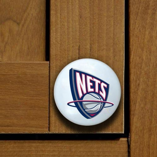 New Jersey Nets Team Logo Cabinet Knob