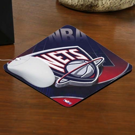 New Jersey Nets Team Logo Neoprene Mousepad