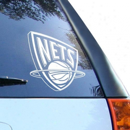 New Jersey Nets White 8'' X 8'' Logo Decal