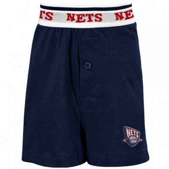 New Jersey Nets Youth Navy Blue Solid Banded Boxer Shorts